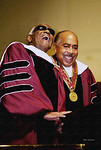 ATLANTA, September 20, 2001 ‹ Legendary recording artist Ray Charles (left) donated $1 million to Morehouse College today. The surprise gift was presented to Morehouse President Walter E.  ...
